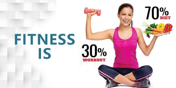 Fitness ist 30% Training und 70% Diät