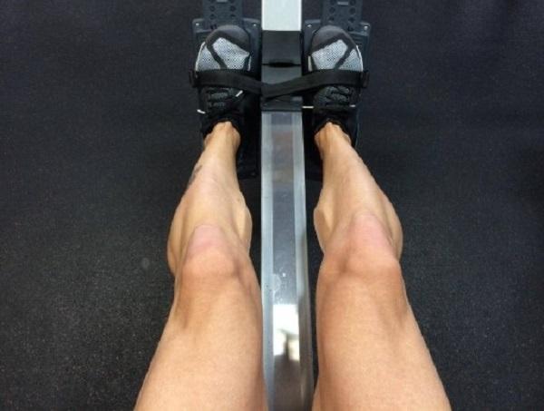Rudergerät Fußpolster