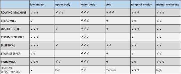 Effektivität des Ruderns im Vergleich zu anderen Workouts