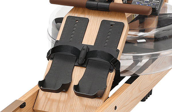 topiom rowing machine with sliding footpads