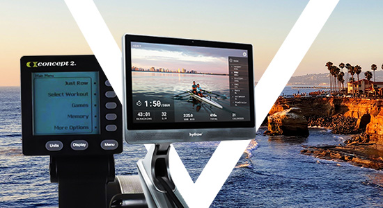 rowing machines with advanced monitor