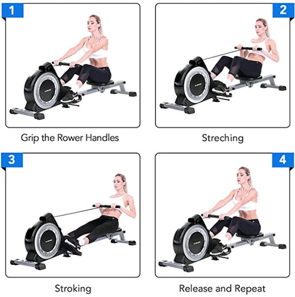 maxkare magnetic rowing machine wrong rowing form