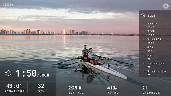 rowing live