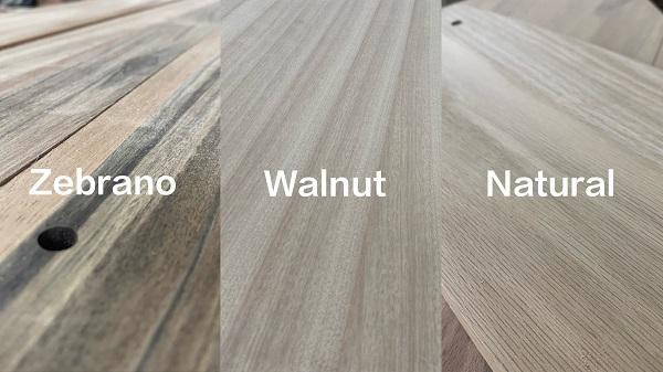 zebrano walnut natural