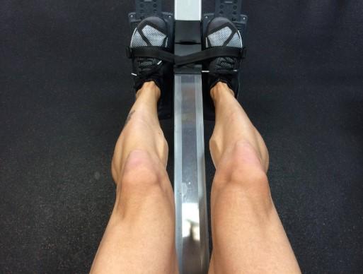 rowing machine footpad