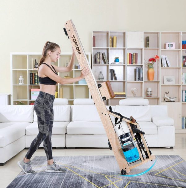 topiom rowing machine is easy to move around