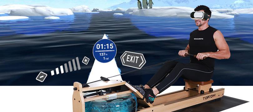 lots of fun VR rowing machine benefits