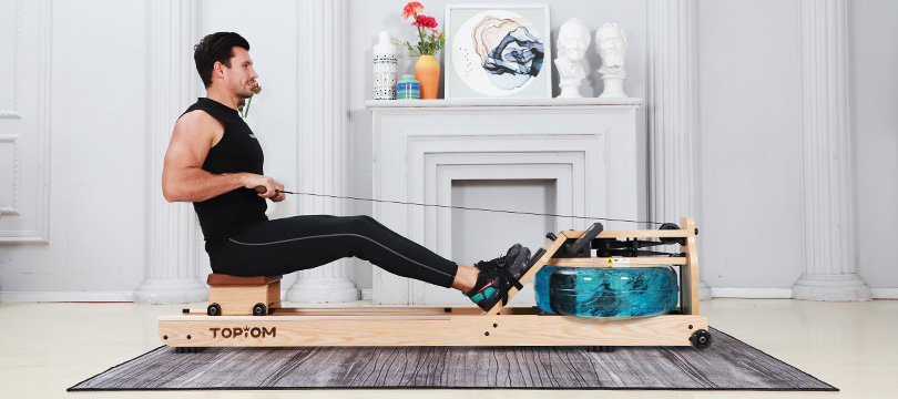 low impact seated exercise benefits of rowing machine