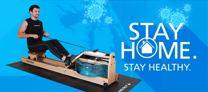 stay home stay healthy stay fit with indoor rowing